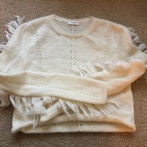 Saint laurent white sweater